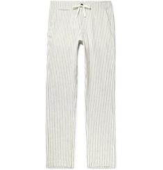 f53b8b81d Freemans Sporting Club Slim-Fit Striped Linen Drawstring Trousers