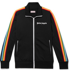 Palm Angels Logo-Print Striped Tech-Jersey Track Jacket