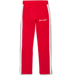 Palm Angels Webbing-Trimmed Tech-Jersey Sweatpants