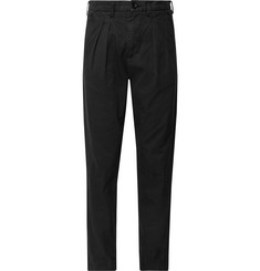 BILLY Tapered Pleated Cotton-Twill Trousers
