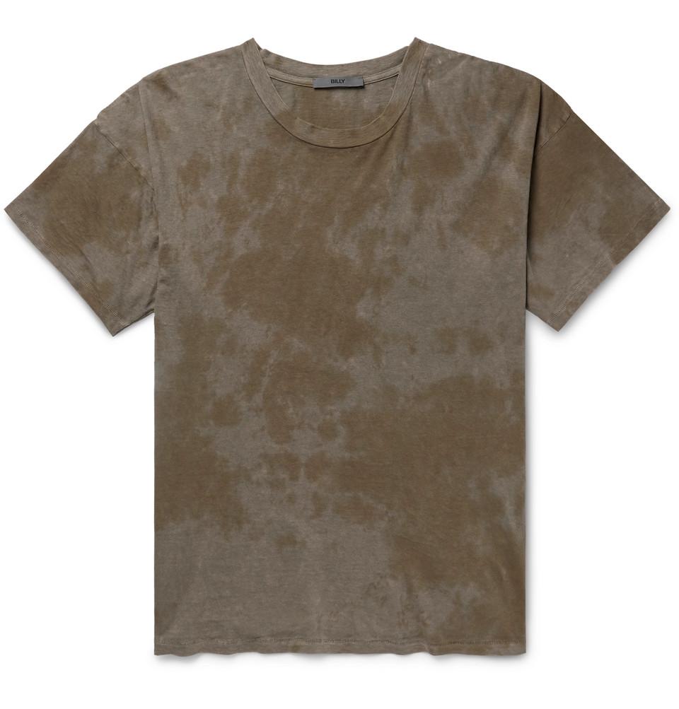 Eastlake Tie-dyed Cotton-jersey T-shirt - Gray