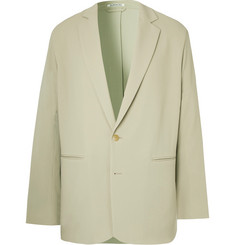 Auralee Light-Sage Unstructured Wool Suit Jacket