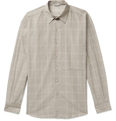 Auralee Checked Cotton-Gauze Shirt