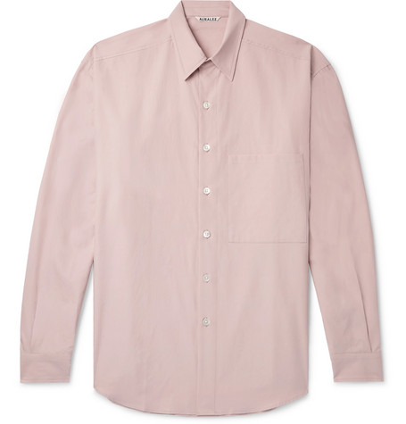 Auralee Washed-Cotton Twill Shirt