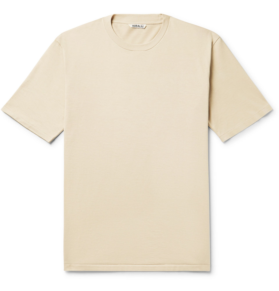 Cotton-jersey T-shirt - Beige