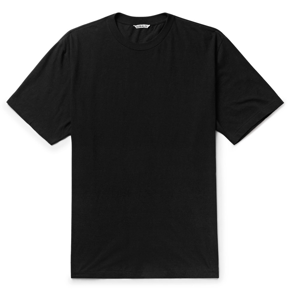 Cotton And Cashmere-blend Jersey T-shirt - Black