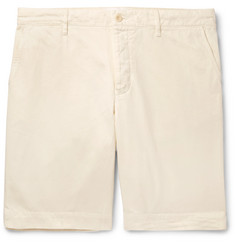 Mr P. Garment-Dyed Peached Cotton-Twill Bermuda Shorts