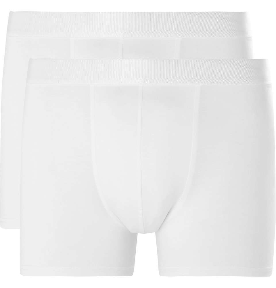Three-pack Stretch-lyocell Jersey Boxer Briefs - White