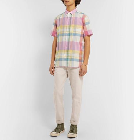 Shoptagr   Slim Fit Cotton Trousers by Beams Plus