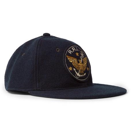 56506a66a169d RRL - Logo-Embroidered Wool-Blend Baseball Cap