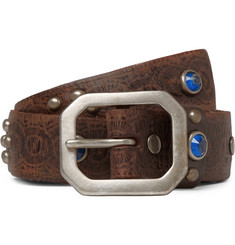RRL 3cm Rasco Embellished Leather Belt
