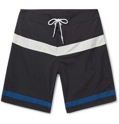 Pilgrim Surf + Supply - Ballard Long-Length Striped Swim Shorts