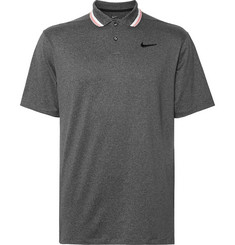 Nike Golf Vapor Logo-Embroidered Striped Dri-FIT Golf Polo Shirt