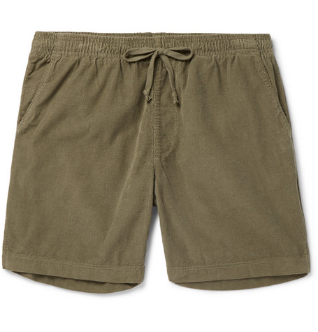 Slim Fit Cotton Corduroy Drawstring Shorts by Save Khaki United