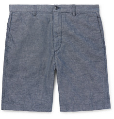 Save Khaki United - Cotton and Linen-Blend Chambray Shorts