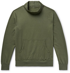 Save Khaki United Fleece-Back Supima Cotton-Jersey Mock-Neck Sweatshirt