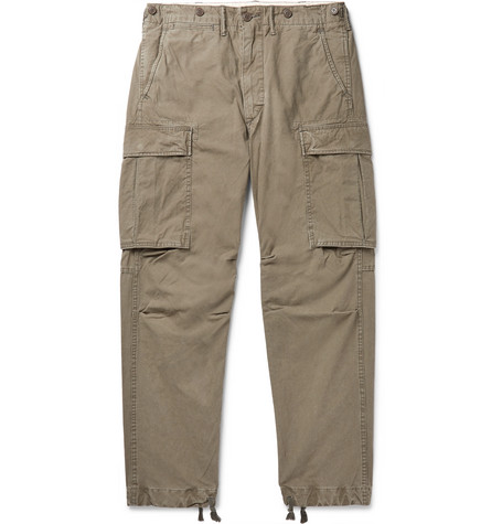 RRL Slim-Fit Tapered Washed-Cotton Cargo Trousers
