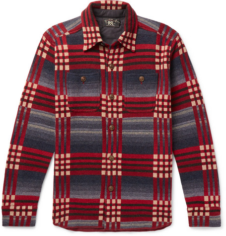 Checked Wool And Cashmere Blend Jacquard Shirt by Rrl