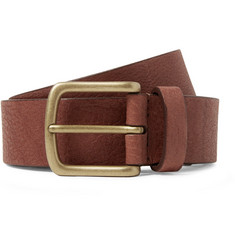 Anderson's 3cm Chocolate Full-Grain Leather Belt