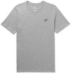 Nike Logo-Embroidered Mélange Cotton-Jersey T-Shirt