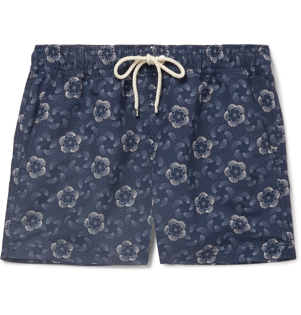 Mirasol Short-length Printed Swim Shorts - Indigo