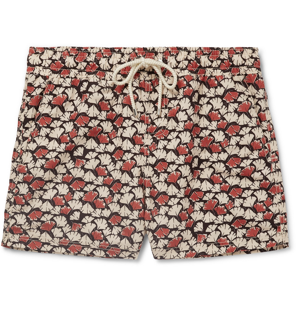 Carline Short-length Printed Swim Shorts - Multi