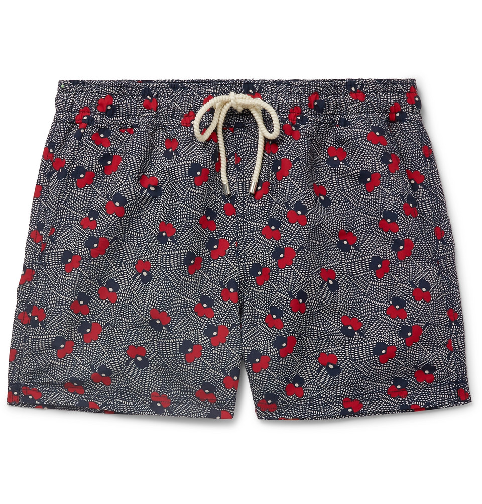 Luna Short-length Printed Swim Shorts - Indigo
