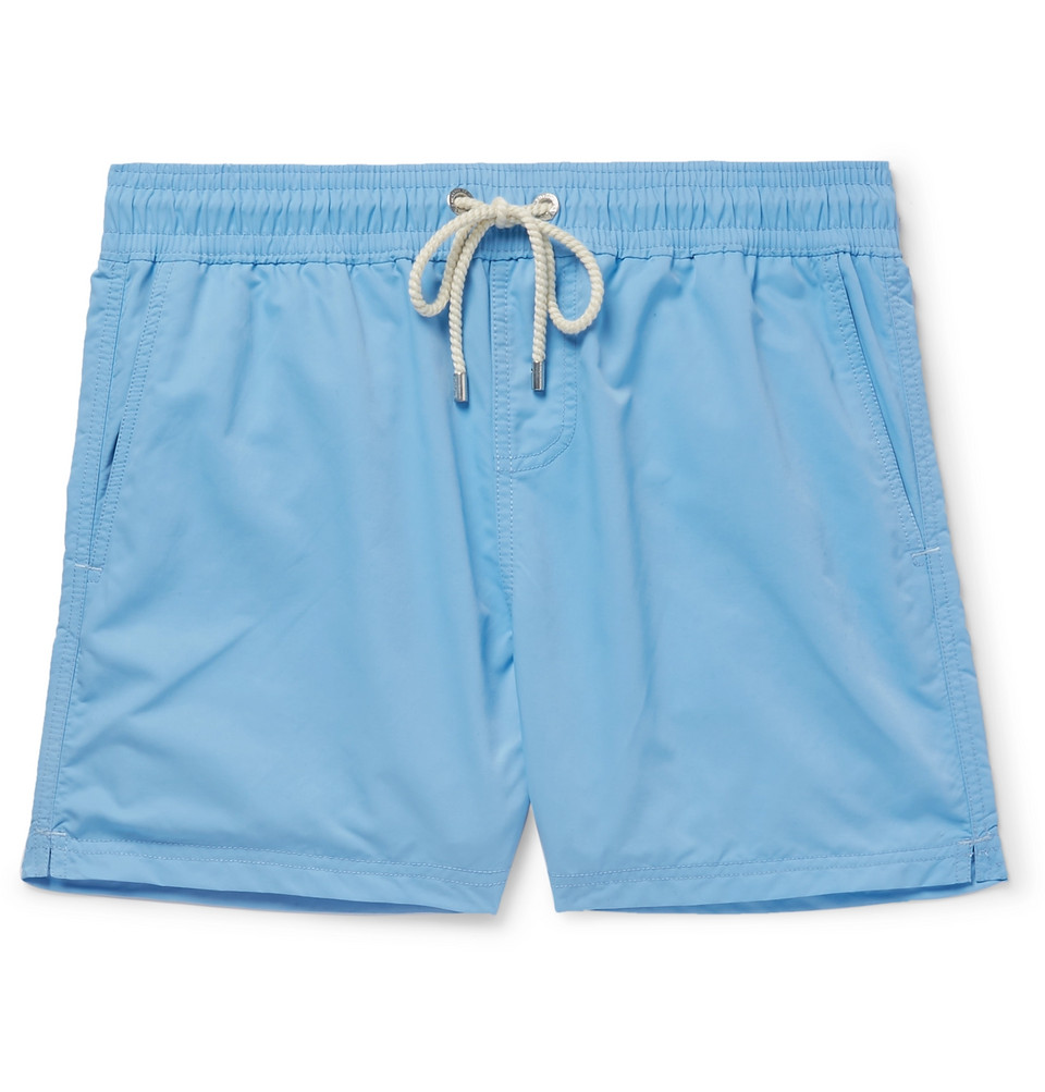 Fregate Short-length Swim Shorts - Light blue