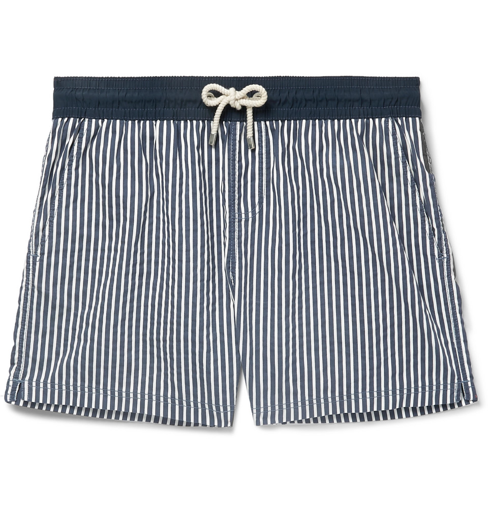 Miramar Short-length Printed Swim Shorts - Navy