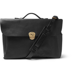 Bleu de Chauffe Charles Full-Grain Leather Briefcase