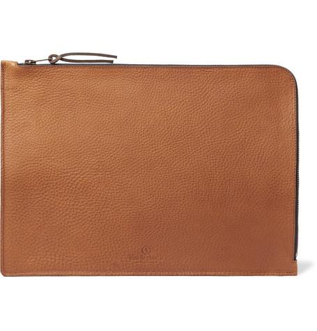 BLEU DE CHAUFFE Jim Organic Full-Grain Leather Pouch - Tan - One Siz
