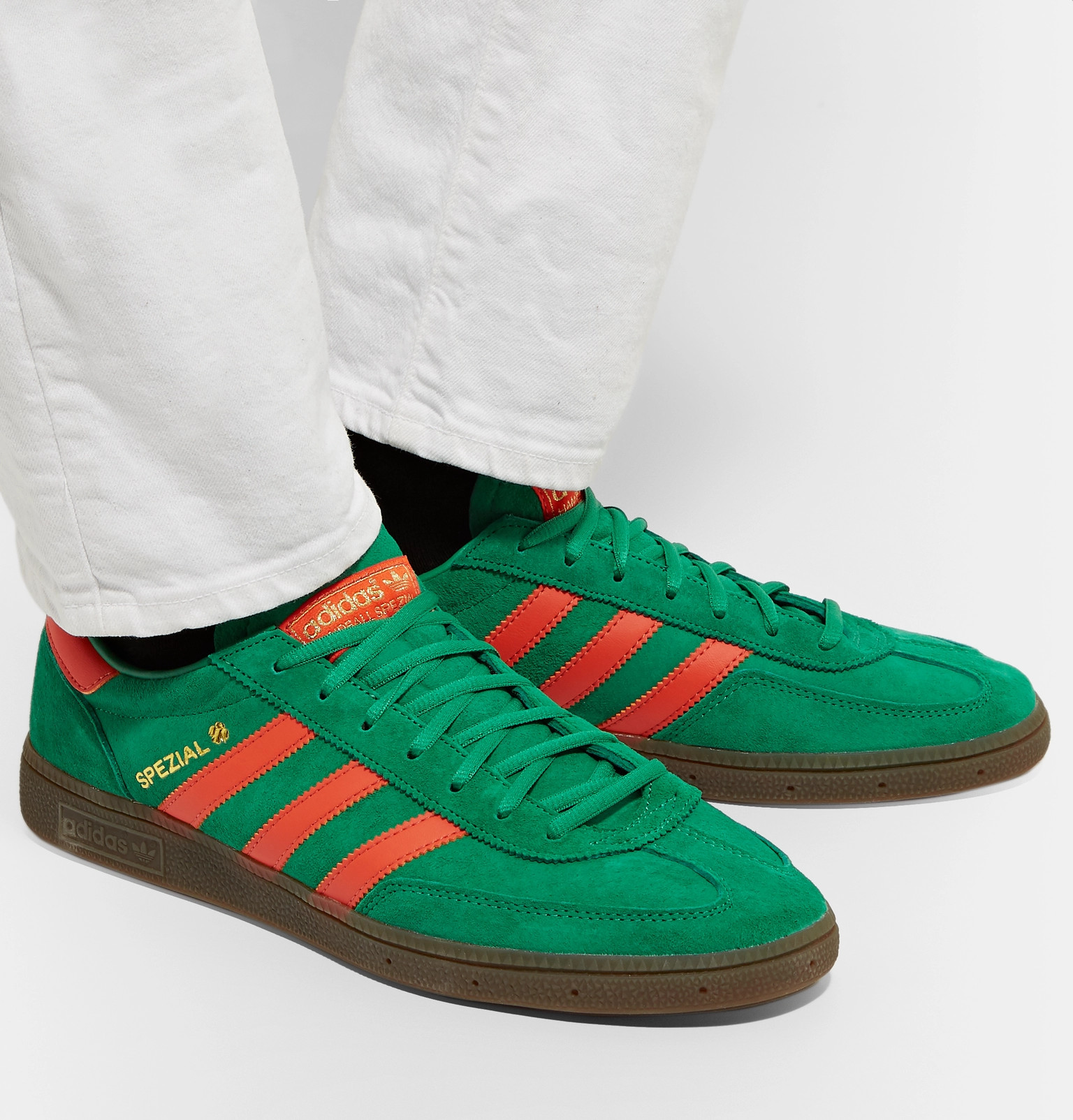 b66bfd35d adidas Originals - Handball Spezial Leather-Trimmed Suede Sneakers