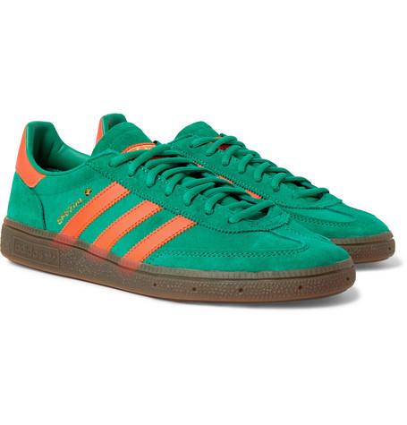85403e2e2a1 adidas Originals - Handball Spezial Leather-Trimmed Suede Sneakers