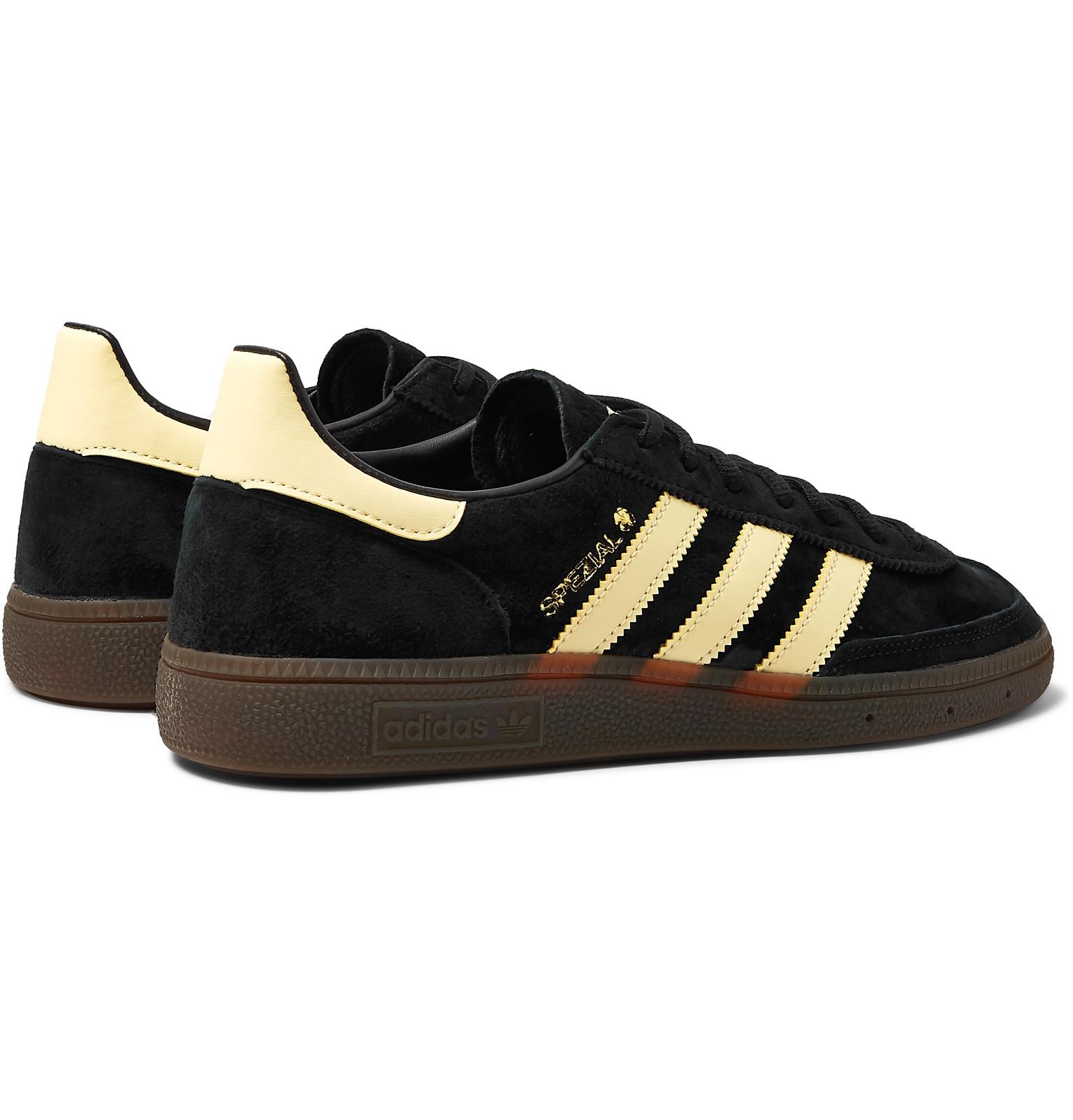size 40 e6329 2244b adidas OriginalsHandball Spezial Leather-Trimmed Suede Sneakers