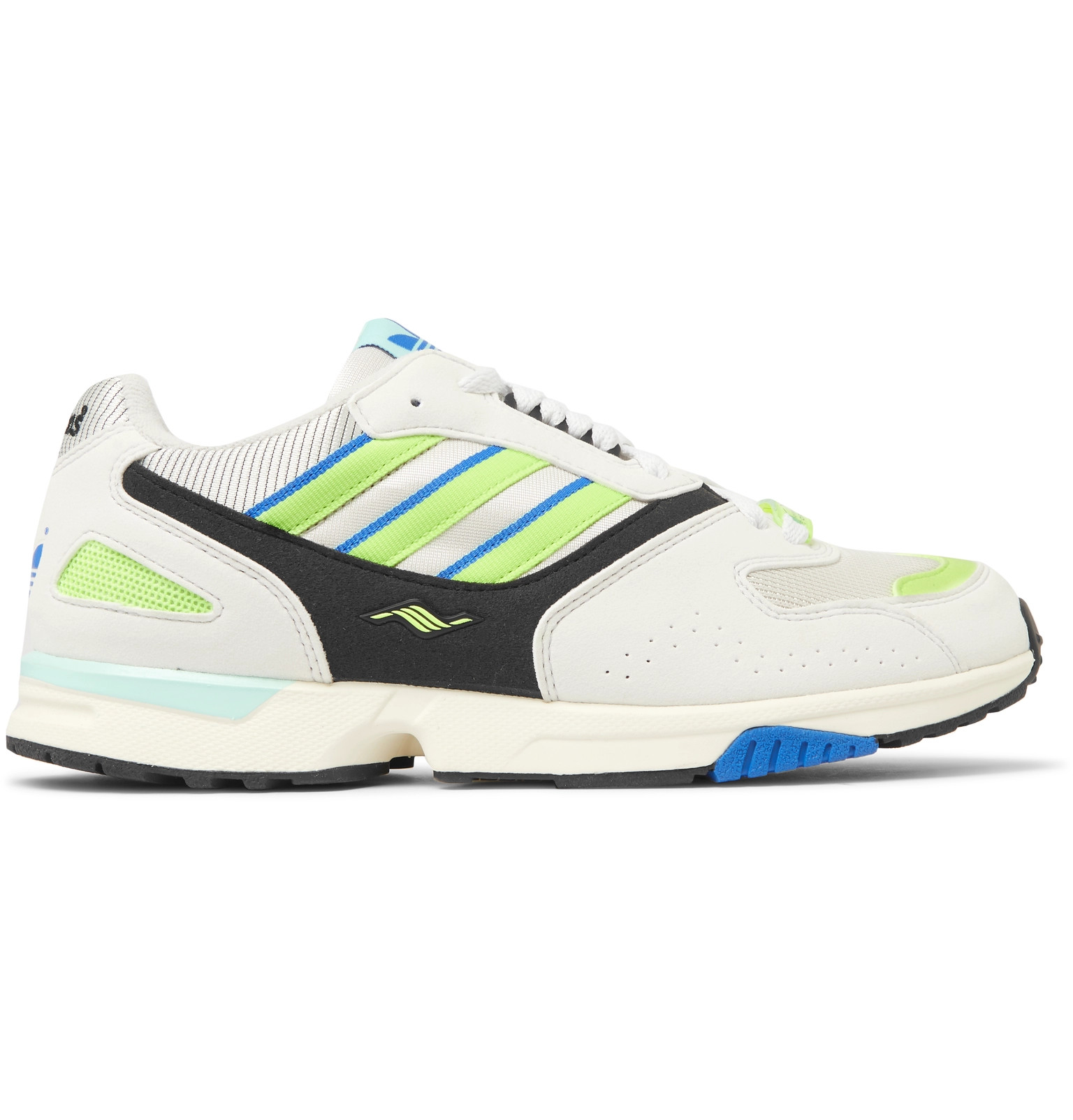 new style cc6ea 39d24 adidas OriginalsZX 4000 Mesh and Faux Suede Sneakers