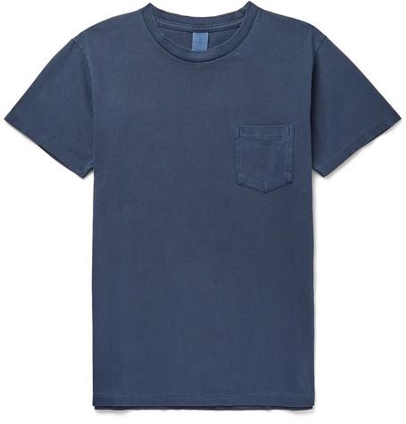 VELVA SHEEN Slim-Fit Cotton-Jersey T-Shirt - Navy
