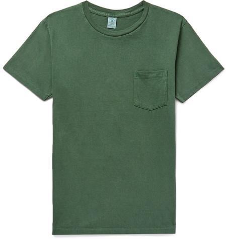VELVA SHEEN Slim-Fit Cotton-Jersey T-Shirt - Green