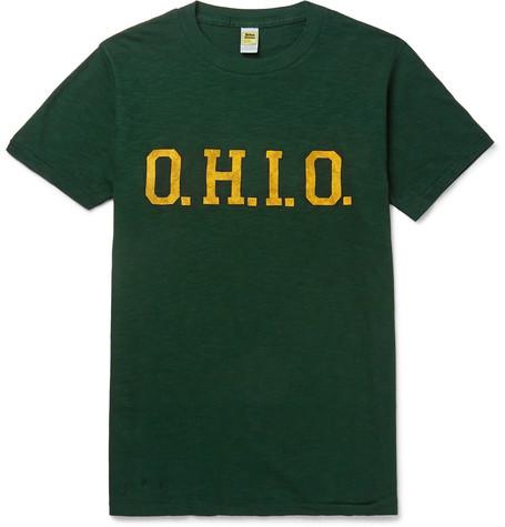 VELVA SHEEN | Velva Sheen - Printed Cotton-jersey T-shirt - Green | Goxip
