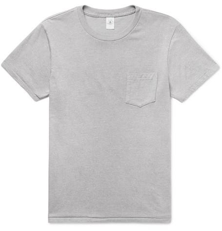 VELVA SHEEN | Velva Sheen - Slim-fit Mélange Cotton-blend Jersey T-shirt - Gray | Goxip