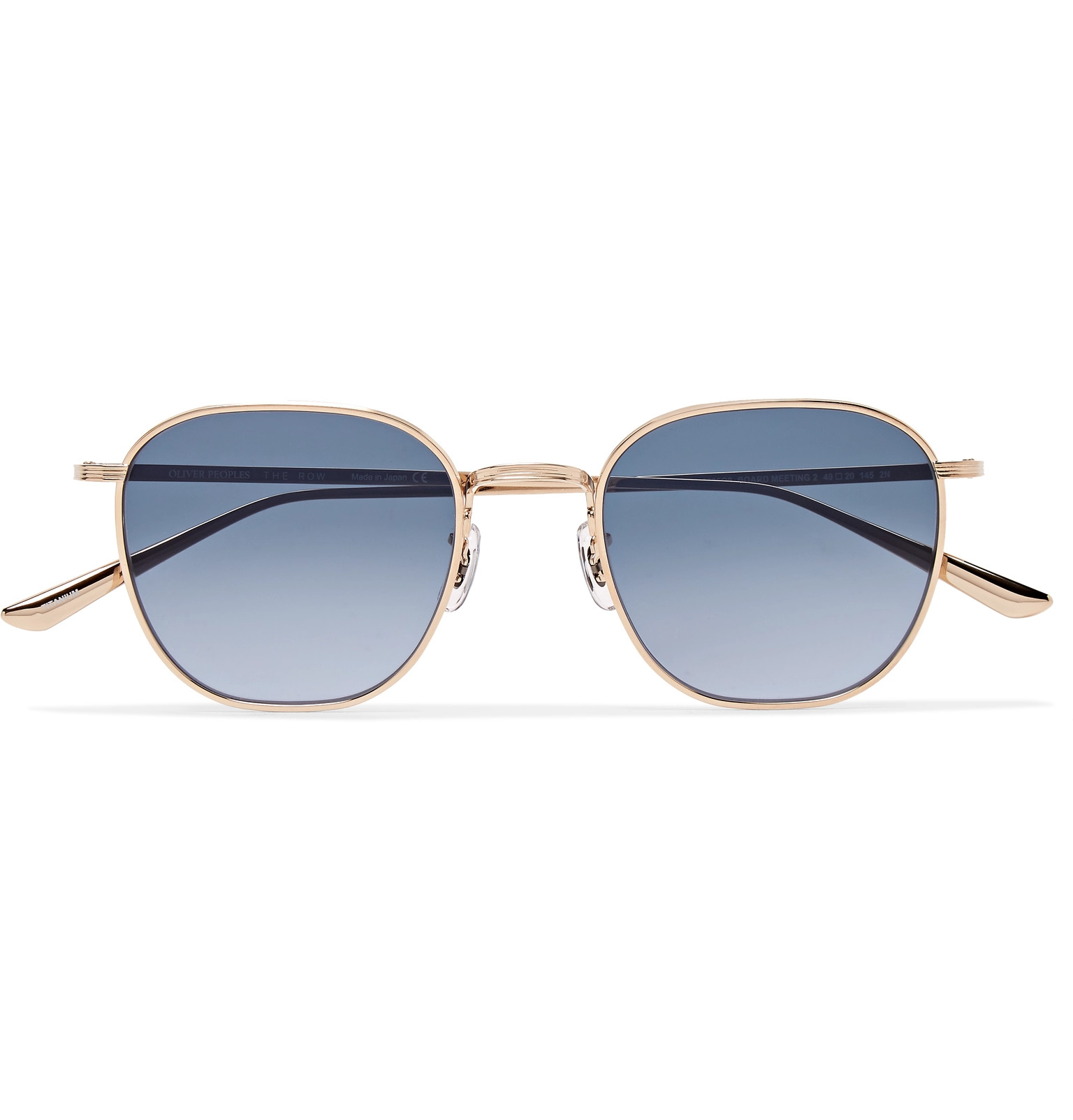14583a091a3 The Row+ Oliver Peoples Board Meeting 2 Square-Frame Gold-Tone Titanium  Photochromic Sunglasses