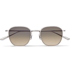 The Row + Oliver Peoples Board Meeting 2 Silver-Tone Titanium Polarised Sunglasses