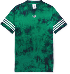 adidas Originals Logo-Appliquéd Tie-Dyed Tech-Jersey T-Shirt