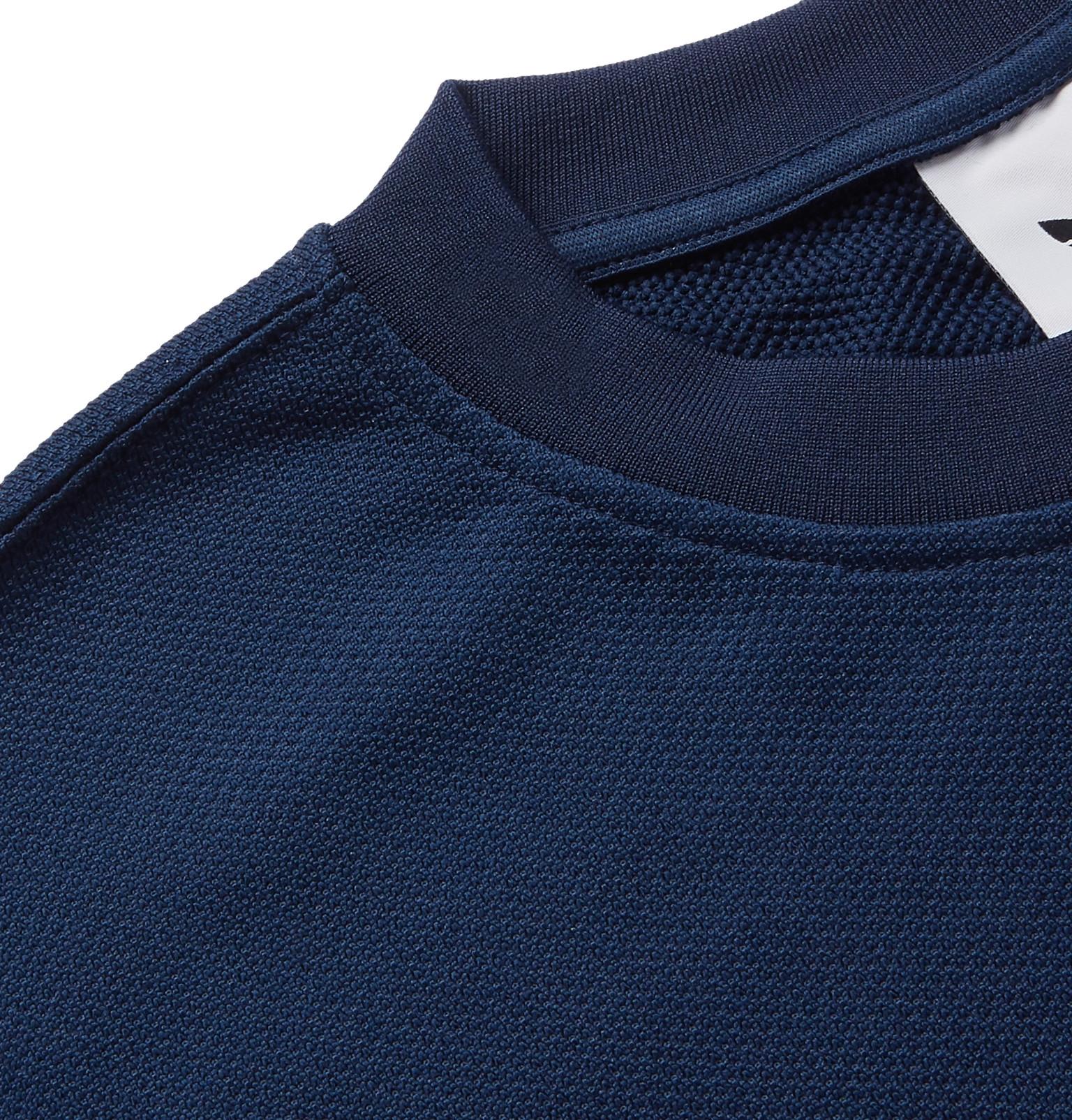 c859fa9cb32 adidas Originals - Striped Satin-Piqué Sweatshirt