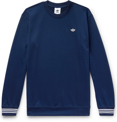 adidas Originals Striped Satin-Piqué Sweatshirt