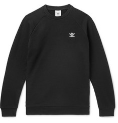 adidas Originals Essential Logo-Embroidered Loopback Cotton-Jersey Sweatshirt