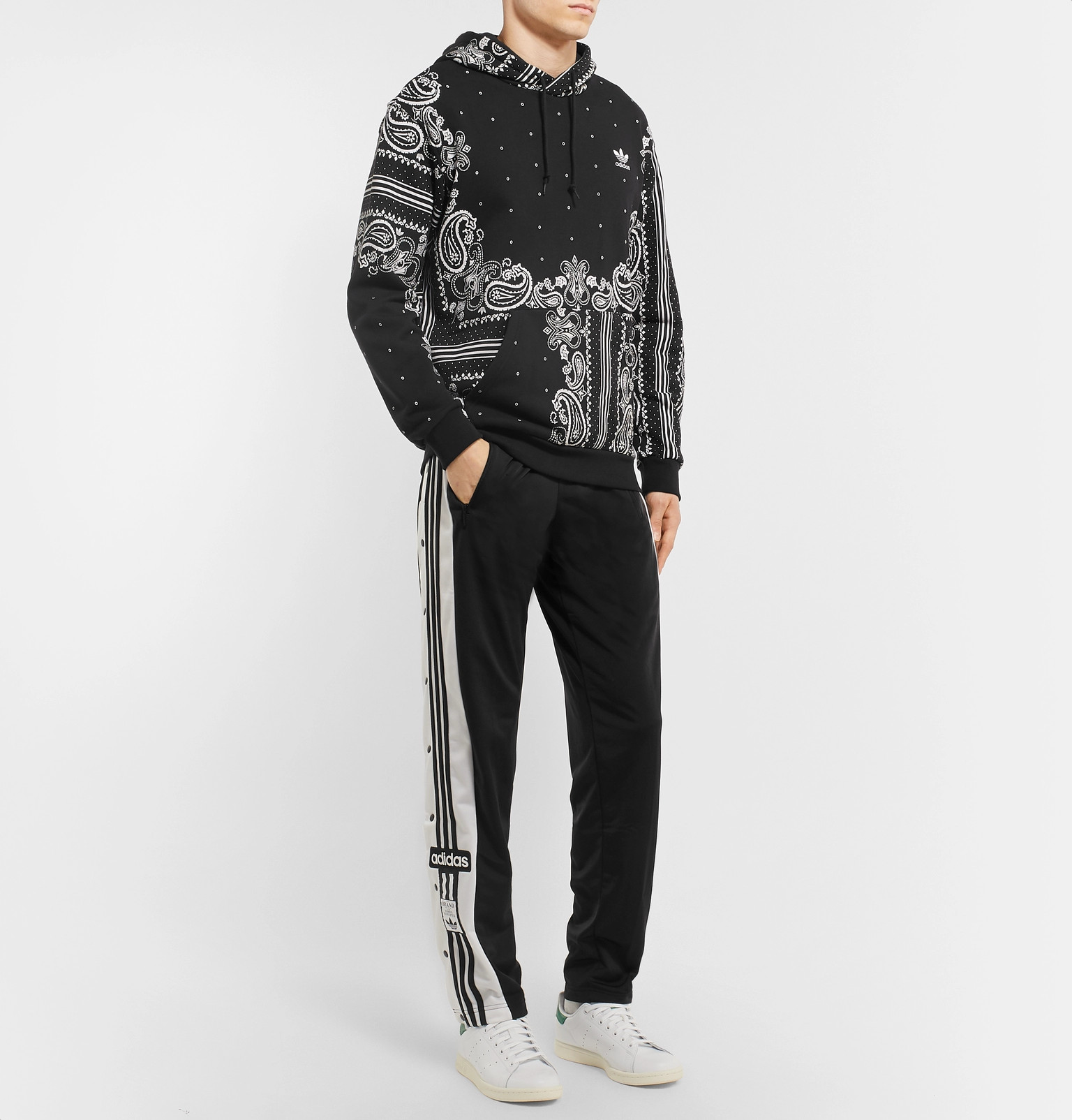 adidas Originals - Bandana-Print Loopback Cotton-Jersey Hoodie b46bccc05e12