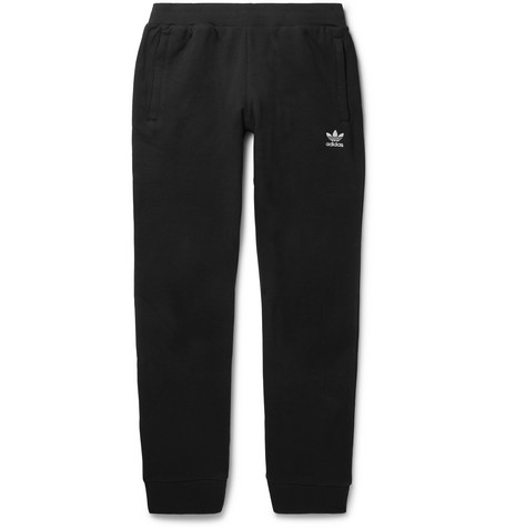 Logo Embroidered Cotton Jersey Sweatpants by Adidas Originals