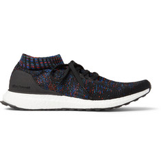 Adidas Sport UltraBOOST Uncaged Rubber-Trimmed Primeknit Sneakers