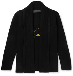 The Elder Statesman - Shawl-Collar Intarsia Cashmere Cardigan