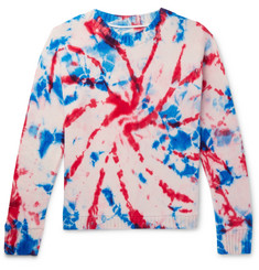 The Elder Statesman - Tie-Dyed Intarsia Cashmere Sweater